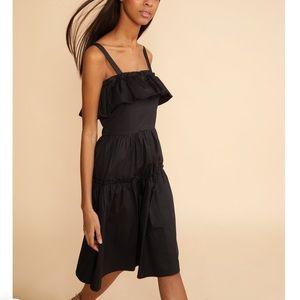 Cynthia Rowley Black Wallflower Ruffle Dress